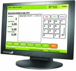 """Bematech - Monitor Lcd 15"""" Touch Screen - Tela Resistiva 5 Fios, Resolução Máxima De 1024x768. Fonte De Alimentação Interna. Consumo De 30w/H. Preto"""